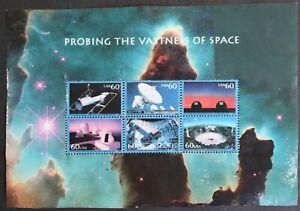 U.S. Used #3409 60c Vastness of Space Sheet (w/ perf seps). CDS Cancel. Nice!