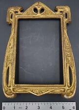 c. 1910's Brass Art Nouveau Frame