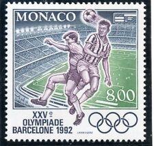 TIMBRE DE MONACO N° 1811 ** SPORT JEUX OLYMPIQUES 1992 BARCELONE / FOOTBALL