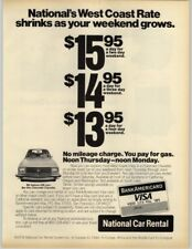 National Car Rental System - Bank Americard 1979 Print Ad