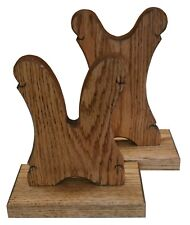 Oak Wooden Gun Rack Stand Table Display Rifle Shotgun Lever - Medium Walnut Fin