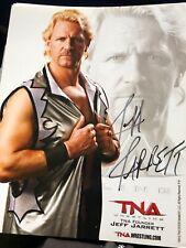 JEFF JARRETT TNA WWE SIGNED AUTOGRAPH 8X10 PROMO PHOTO WRESTLING