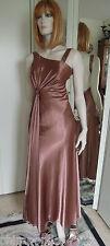 Abendkleid Gr.34 bronce braun Strass Pailletten Haute Couture märchenhaft schön