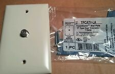 (4)  F TYPE TV COAX CONNECTOR  TPCATV P&S TRADE MASTER SWITCH WALLPLATE 4 pc