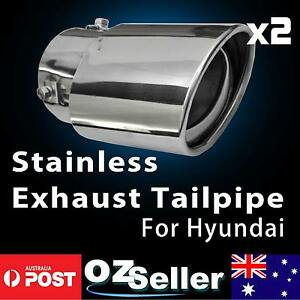 70MM Performance Stainless Steel Exhaust Mufflers Angled For Hyundai Santa Fe