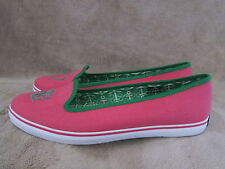 SPERRY Top Sider Westport Pink & Green Slip On Flats Shoes Womens US 7.5 NWOB