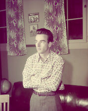 Montgomery Clift ORIGINAL vintage 5x4 Slide Transparency at home photo shoot