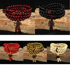 Fragrant Green Sandalwood 108*8MM Buddhist Prayer Bead Mala Necklace/Bracelet MI