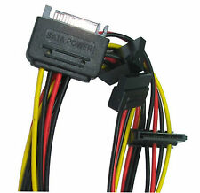 SATA Serial ATA Power Splitter lead 1 Male to 3 Way - 1 Female to 3 Male Sockets
