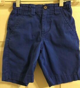 Mini Boden Blue Shorts Boys Adjustable Waist Size 4