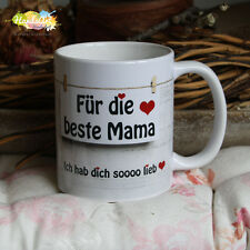 Tasse / Für die beste Mama / Geschenk Muttertag Weihnachten Valentinstag