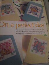 """""""in un giorno perfetto"""" Caroline Palmer cross stitch chart (solo)"""