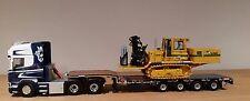 WSI Scania Topline cargador de carga 6X4 R5 + Tractor de soldadura escala 1.50
