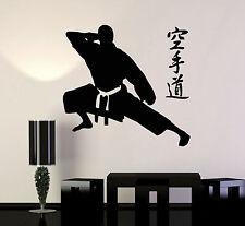 Wall Stickers Vinyl Decal Martial Arts Karate Jiu-J Fighter Fight Sports (ig463)