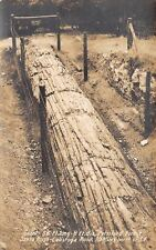 Santa Rosa CA Calistoga Rd~56-Foot Fallen Log, 8-ft in Diam~Petrified RPPC c1931