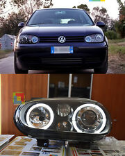 FARI ANTERIORI ANGEL EYES VW GOLF 4 97-03 + KIT ANABBAGLIANTI A LED