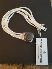 NEW STEPHEN DWECK  STERLING MULTISTRAND LIQUID CHAIN BRACELET WITH GREY MOP