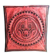 Colcha mano Fátima roja 230x210cm algodón manta India cortina decoración Tie Dye
