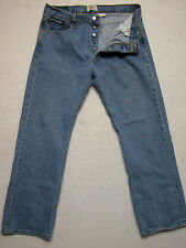 Levis 501XX 35X30 Straight Leg Blue Denim Distressed Jeans (Measure35x29)