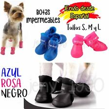 4 Zapatos, botas impermeables lluvia, perros (TALLAS S, M y L) rosa, negro, azul