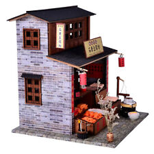 DIY Miniature Dollhouse Wooden Kit LED Christmas Birthday Gift DIY Assemble