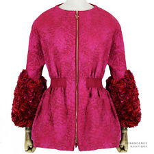 Moncler Gamme Rouge Exquisite Rose Petal Slim-Fit Coat Jacket Size 0 IT38