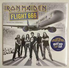 Iron Maiden Flight 666 2-LP UK 2009 Fotodisco color portada gatefold