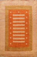 Contemporary Gabbeh Geometric Oriental Area Rug Hand-knotted Living Room 8'x10'