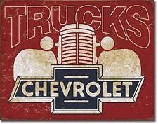 More details for chevrolet trucks metal sign  410mm x 300mm  (de)