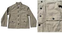 Workers Jacket Mens Stone Beige Warehouse Coat Heavy Duty Cotton Pockets RRP £59