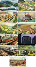 LOT OF 11 ORIGINAL PENNSYLVANIA RAILROAD POCKET CALENDARS 1950 TO 1961 - EXC!