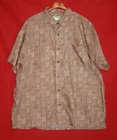 Haband Mens XXL 2XL Short Sleeve Button Up Shirt Front Pocket Polyester