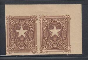 Liberia # 48 Mint IMPERF MARGIN PAIR Liberian Star 1892 Waterlow WITH WATERMARK