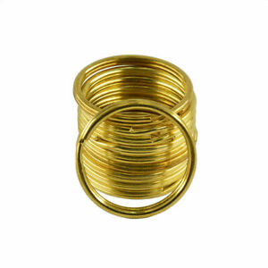 35mm Round Split Rings For Key Rings Bags Purses Gold Plated 10 50 100