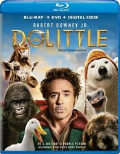 DOLITTLE (2020) [Blu-ray+DVD+Digital] New with slip cover!! (Free Shipping)