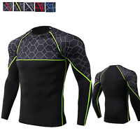 Men's Compression Shirt Quick-dry Activewear Tops Long Sleeve Moisture Wicking