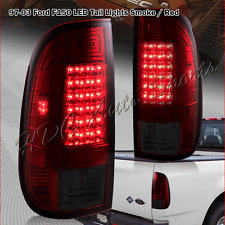 For 1999-2007 Ford F250 Super Duty Styleside Red/Smoke Lens LED Tail Lights Lamp