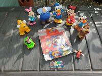 Disney Figure Bundle Goofy Mickey Minnie Pluto Donald Chipmunk Job Lot