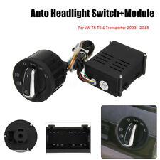 Car Headlight Fog Light Switch & Module Upgrade Fit VW T5 T5.1 Transporter 03-15