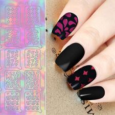 20Tips Holographic Fish Butterfly Nail Vinyls Hollow Stencil Stickers UR SUGAR