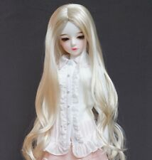 [PF] Blonde Curly Wig For 1/3 SD DZ AOD 1/4 MSD BJD Doll Dollfie Outfits