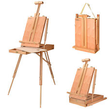 Large Artist Easel Tripod Stand Folding Art Painting Drawing Wood Sketching Box