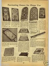 1938 PAPER AD Gotham's Ice Hockey Board Game Baseball Carrom Seven 7 Dwarfs