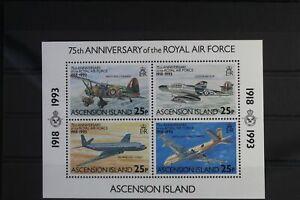 Ascension Block 24 mit 606-609 ** postfrisch Flugzeuge #WW173