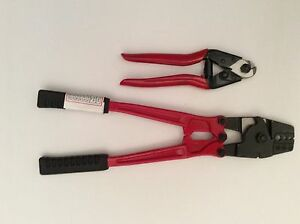 350mm Hand Swager Swage Crimper  +  Wire Cutter Stainless Steel Cable 3.2mm Wire