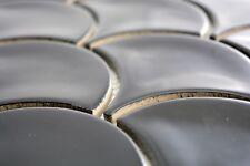 Mosaïque carreau céramique  noir brillant 13-FS03_b | 1 plaque