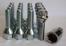 12x M12x 1,5 33mm aleación set tornillos antirrobo de ruedas para OPEL CORSA B