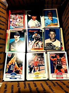 3000 Cards - PICK YOUR MIX of SPORT - FLAT RATE BOX - Baseball Basketball FBall