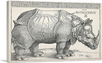 ARTCANVAS The Rhinoceros 1515 Canvas Art Print by Albrecht Durer