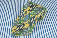 Brooks Brothers Uomo Blu Verde & Beige Animale Seta Cravatta 56 x 3.75